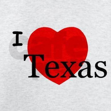 I Love Texas! Tee-Shirt on CafePress.com | Web Trek OT | Scoop.it