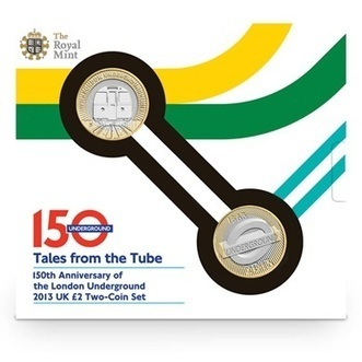 150th Anniversary of the London Underground 2013 UK £2 Two-Coin Set   The Royal Mint   The Royal Mint   Scoop.it