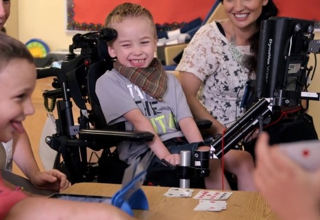 Video: Six-year-old boy with cerebral palsy finds voice in technology | Innovating Ideas in Education | Scoop.it