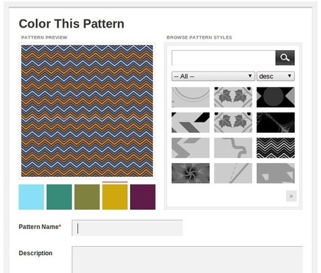 Crear un fondo tipo patrón o mosaico con herramientas online   Manualidades Mi Sol   Scoop.it