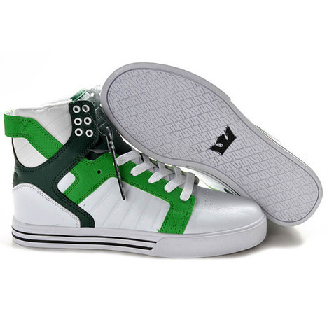 Supra Skytop High White Green Shoes | my style | Scoop.it