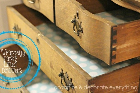 Wrapping Paper Lined Drawers | OrganizeForLife | Scoop.it