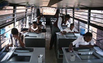 School on wheels takes technology to city slums | Urban Science Education | Scoop.it