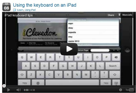 Using the keyboard on an iPad » iClevedon | m-learning, mLearning, mobile learning, Bring Your Own Device | Scoop.it