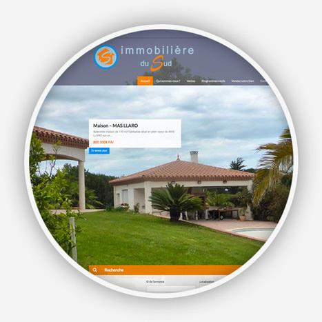 Création site internet Agence Immobilière du Sud à Cabestany - Agence Point Com Perpignan | Actu de la Com' et du Web | Scoop.it