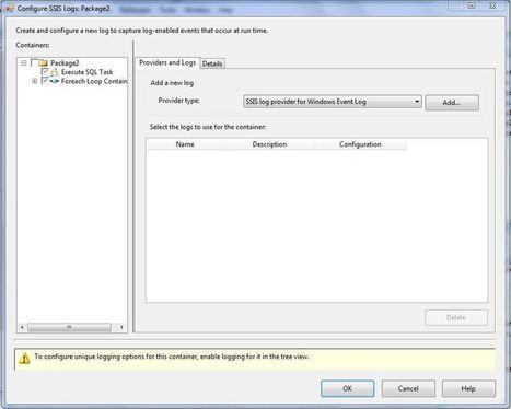 Logging in SSIS (SQL Server Log Provider)   Microsoft Business Intelligence (MSBI)   Scoop.it