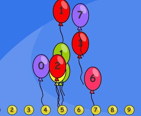 Balões Numerados - TES iboard | Jogos n@ Pré | Scoop.it