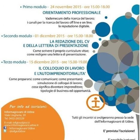 Come cercare lavoro: nuovo laboratorio con l'Informagiovani - Diario di Udine | Informagiovani, buone idee | Scoop.it