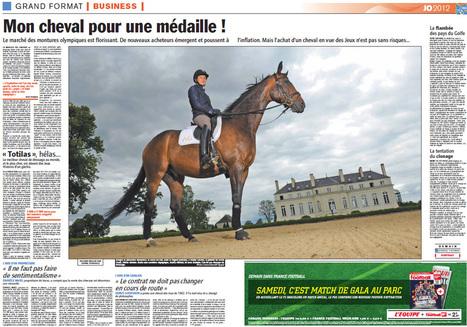 Une double page sur les propriétaires de chevaux dans l'Equipe | JO 2012 - Equitation | Scoop.it