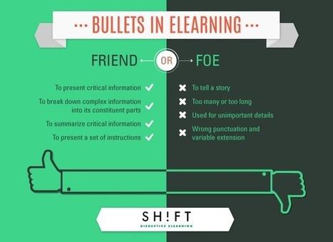 Bullets in eLearning: Friend or Foe? | APRENDIZAJE | Scoop.it