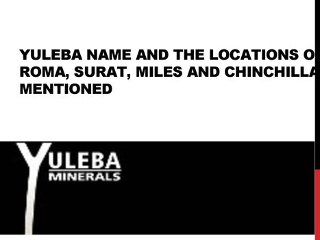 Yuleba name and the locations of Roma_ Surat_ Miles and Chinchilla mentioned.pptx | Design | Scoop.it