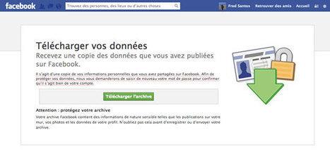 Comment sauvegarder son Facebook ? (photos, messages, données…) | Graphisme-Design | Scoop.it