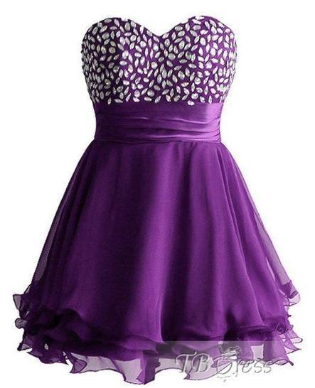 Chic Sweetheart Beading Lace-up Short Prom/Cocktail Dress | skirt | Scoop.it