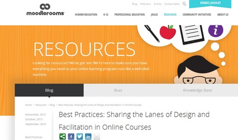 Best Practices: Sharing the Lanes of Design and Facilitation in Online Courses | MoodleUK | Scoop.it