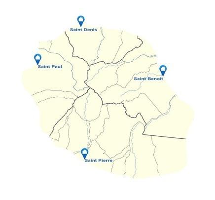 Carte interactive de La Réunion : régions, communes, quartiers | Habiter La Réunion | Scoop.it