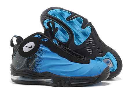 Men Basketball Nike Shoes Air Total Foamposite Max Current Blue and Black | new and fashion list | Scoop.it