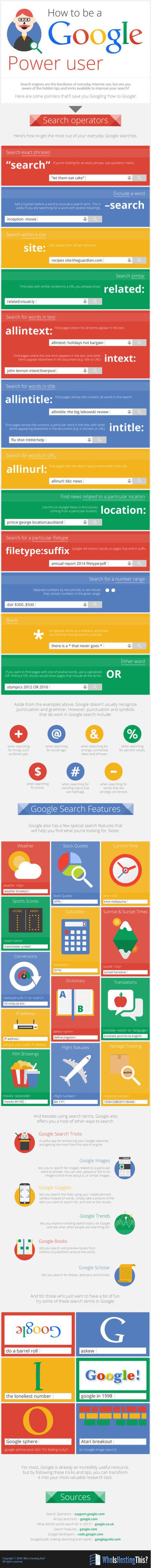 How To Be a Google PowerUser - Blog About Infographics and Data Visualization - Cool Infographics | Library, ICT, General Teaching Website Resources | Scoop.it