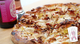 Woodchuck Pink Recipe: Flammkuchen | mushrooms | Scoop.it