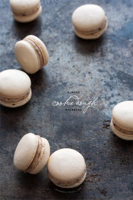 Almond Cookie Dough Macarons | Love and Olive Oil | Entrelaços | Scoop.it