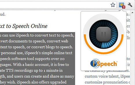 Convertir du texte en audio avec Chrome | Web 2.0 et travail collaboratif | Scoop.it