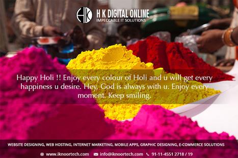 Happy Holi   Reliable Website Design Company in Delhi   Scoop.it