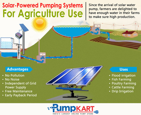 Solar Powered Pumping System for Agriculture use | Agriculture pumps | Scoop.it
