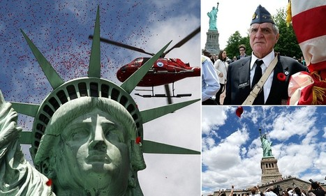 One million rose petals fall on Lady Liberty in touching D-Day tribute | News round the Globe especially unacceptable behaviour | Scoop.it
