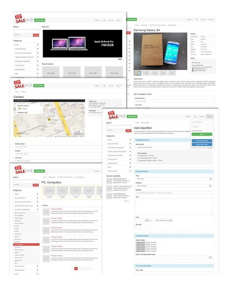 CZSale - Classified Ads Bootstrap Website Template - Download! New Themes and Templates | bijoy | Scoop.it