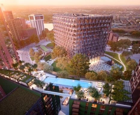 Une piscine en verre entre deux immeubles prévue à Londres en 2018 … | Strange days indeed... | Scoop.it