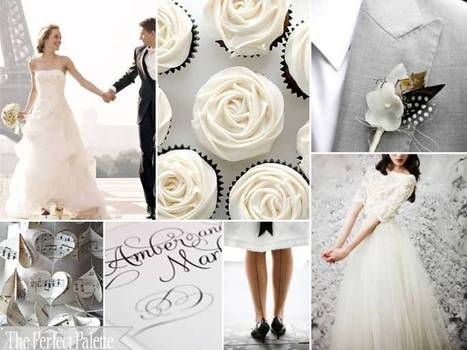 The Perfect Palette: {Beauty + Bliss}: A Classic Palette of Black, Gray + White | Go Wedding | Scoop.it