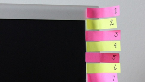 Make a Post-It Note Countdown to Stick to Your Habit Plan | 3M & ses marques | Scoop.it
