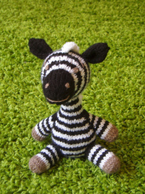 Safari Sweeties Zebra pattern by Alan Dart | Knitting for everyday comfort and delight | Scoop.it