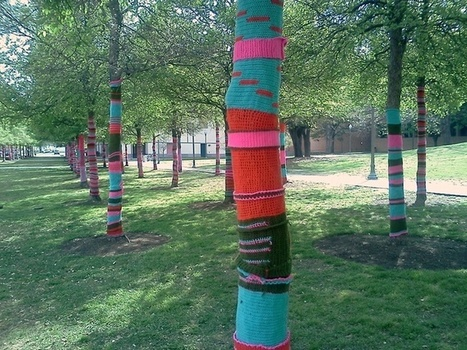 Knit one, purl one: the mysteries of yarn bombing unravelled | Tricot collectif | Scoop.it