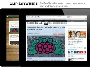 Notable New iPad Apps: EverClip for iPad | iPads in Education | Scoop.it