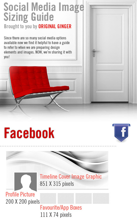 A Guide To Social Media Images (Infographic) | visualizing social media | Scoop.it