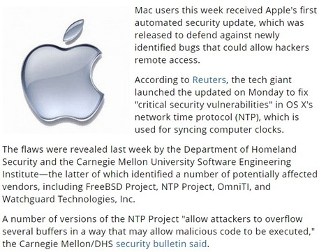 Apple Pushes First Automated Security Update for Mac | CyberSecurity | Nobody Is Perfect | Apple, Mac, iOS4, iPad, iPhone and (in)security... | Scoop.it
