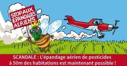 L'épandage aérien de pesticides à 50m des habitations est maintenant possible ! | Abeilles, intoxications et informations | Scoop.it