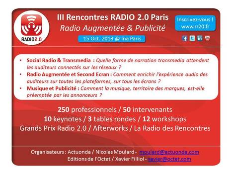 III Rencontres Radio 2.0 Paris 'Radio Augmentée et Publicité' | Radio 2.0 (En & Fr) | Scoop.it