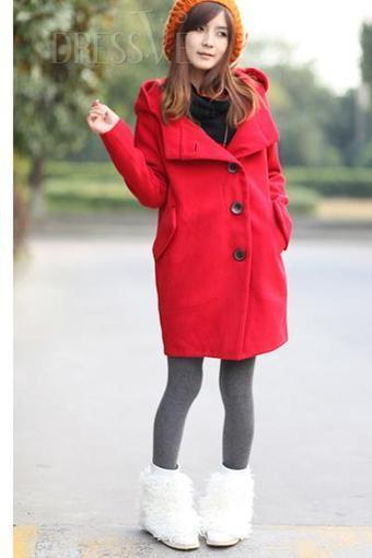 Long Sleeves Pure Color Lapel Woollencloth Trench Coat | Dressve fashion | Scoop.it