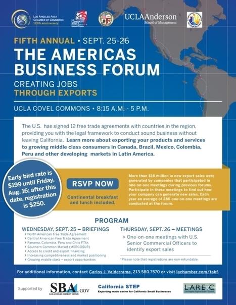 The Americas Business Forum | San Diego Center for International Trade Development (CITD) | International Trade | Scoop.it