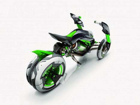 Kawasaki's three wheeler EV concept - Techno2know   Technology   Scoop.it