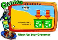 Clean Up Your Grammar: Noun and Verb game | Mrs. Herwood's 3rd Grade Class | Scoop.it