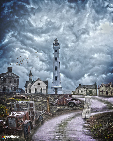 Create a Ghost Town Photomanipulation Scene in Photoshop   The Official Photoshop Roadmap Journal   Scoop.it