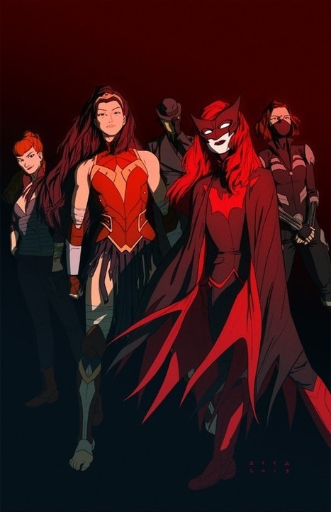 P:R Approved: Kris Anka's DC Female Super-Team! | Project : Rooftop | MulderComicReport | Scoop.it