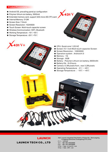 Launch X431 V(X431 Pro) Wifi/Bluetooth Tablet Full System Diagnostic Tool | xcardiag obd2 | Scoop.it