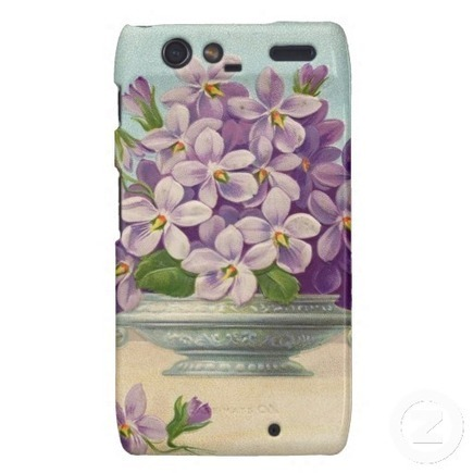 Vintage Vase of Purple Flowers Droid RAZR Case   Adriane Designs   Scoop.it
