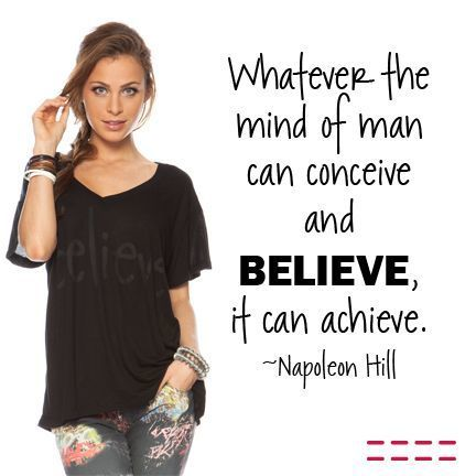 Whatever the mind can conceive and believe, it can achieve. ~ Napoleon Hill | Inspirations for Life | Scoop.it