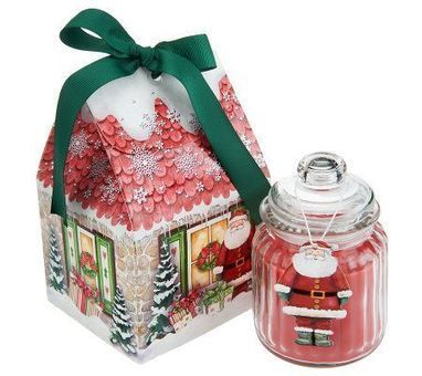Set of 5 Christmas Cottage Candles with Giftboxes by Valerie — QVC.com   Blingy Fripperies, Shopping, Personal Stuffs, & Wish List   Scoop.it