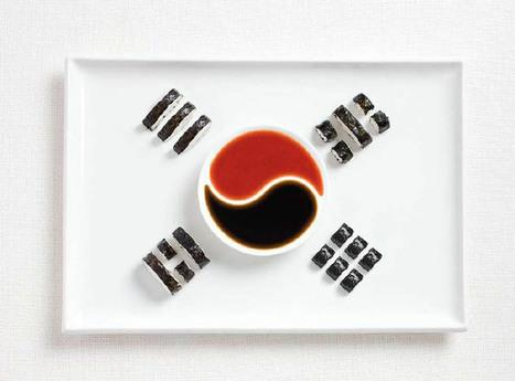 Le français et vous — Drapeaux nationaux composés de plats traditionnels... | Cuisiner l'information | Scoop.it