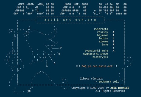 Strona Joli - Ascii Art | ASCII Art | Scoop.it